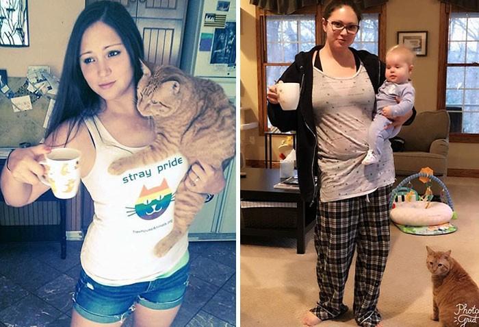"""Hình ảnh trước và sau khi làm cha mẹ của các """"dân chơi"""" sẽ cho bạn thấy việc nuôi con khắc nghiệt đến mức nào - Ảnh 6."""