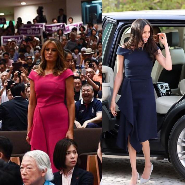 Bà Melania Trump diện đầm 166 triệu đồng, tỏa sáng cả một góc trời nhưng chỉ khiến người ta liên tưởng tới Công nương Meghan - Ảnh 6.