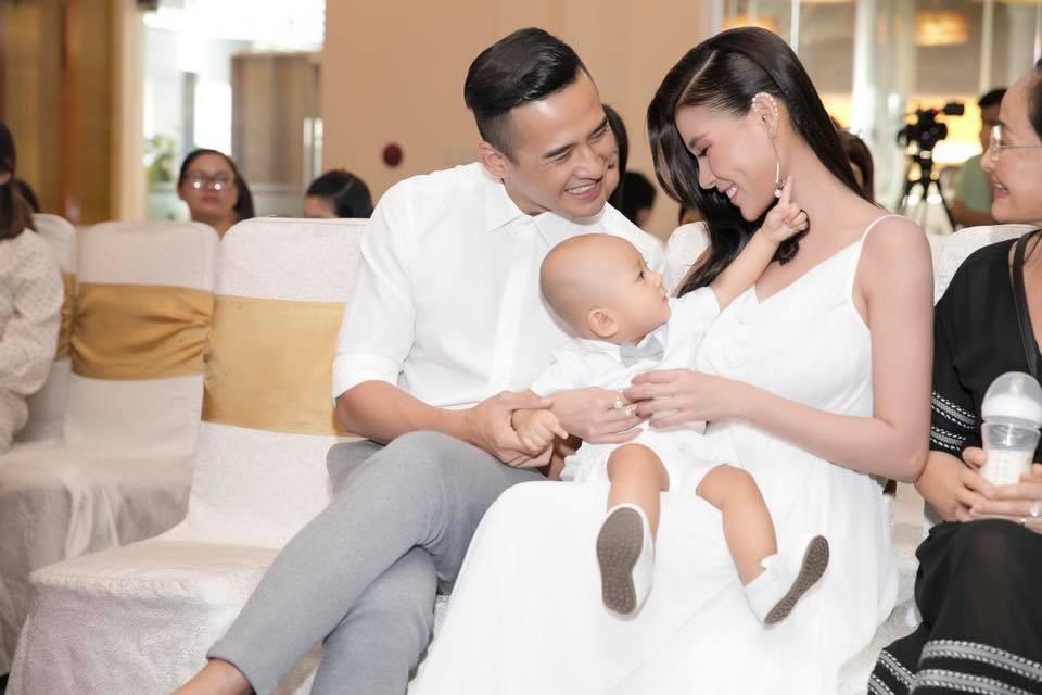 """Gần 1 năm sinh con trai đầu lòng, Thúy Diễm thèm cảm giác có bầu và đây là phản ứng """"khó đỡ"""" của Lương Thế Thành - Ảnh 2."""