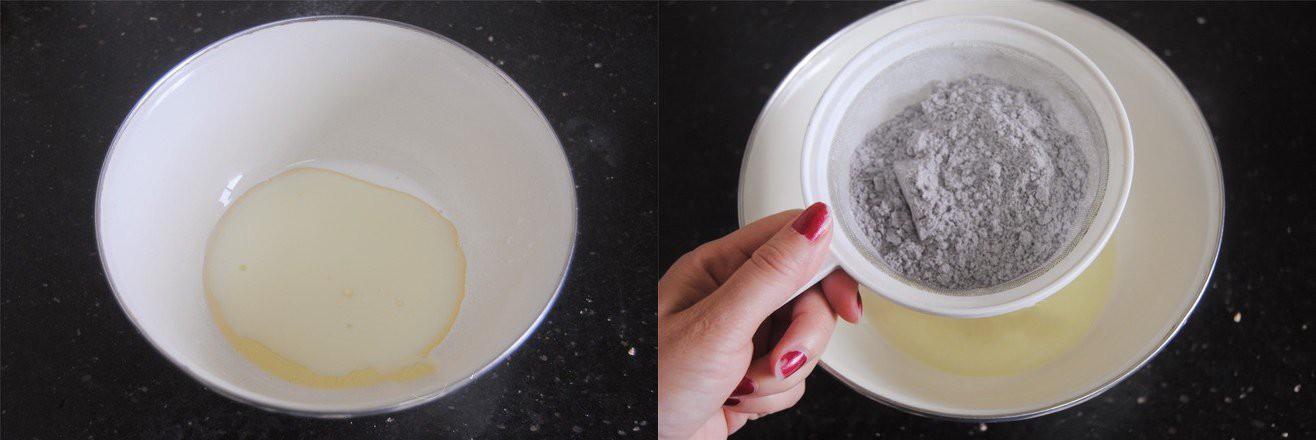 Bánh bông lan nếp cẩm cuộn chà bông - Ảnh 1.
