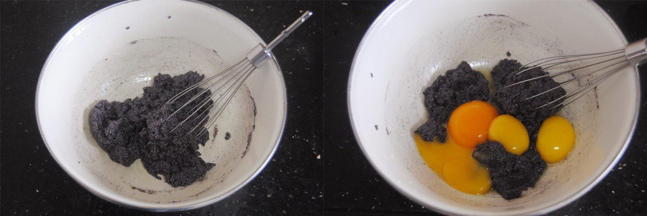 Bánh bông lan nếp cẩm cuộn chà bông - Ảnh 2.