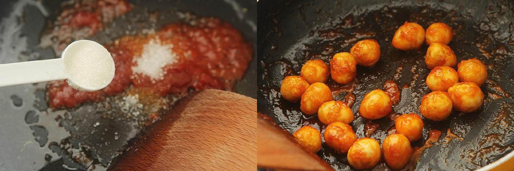 Trứng cút chiên xốt chua ngọt chuẩn ngon - Ảnh 3.