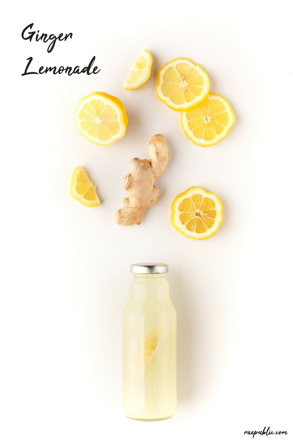 Ginger+lemonade+made+with+just+four+ingredients+and+thats+including+the+water