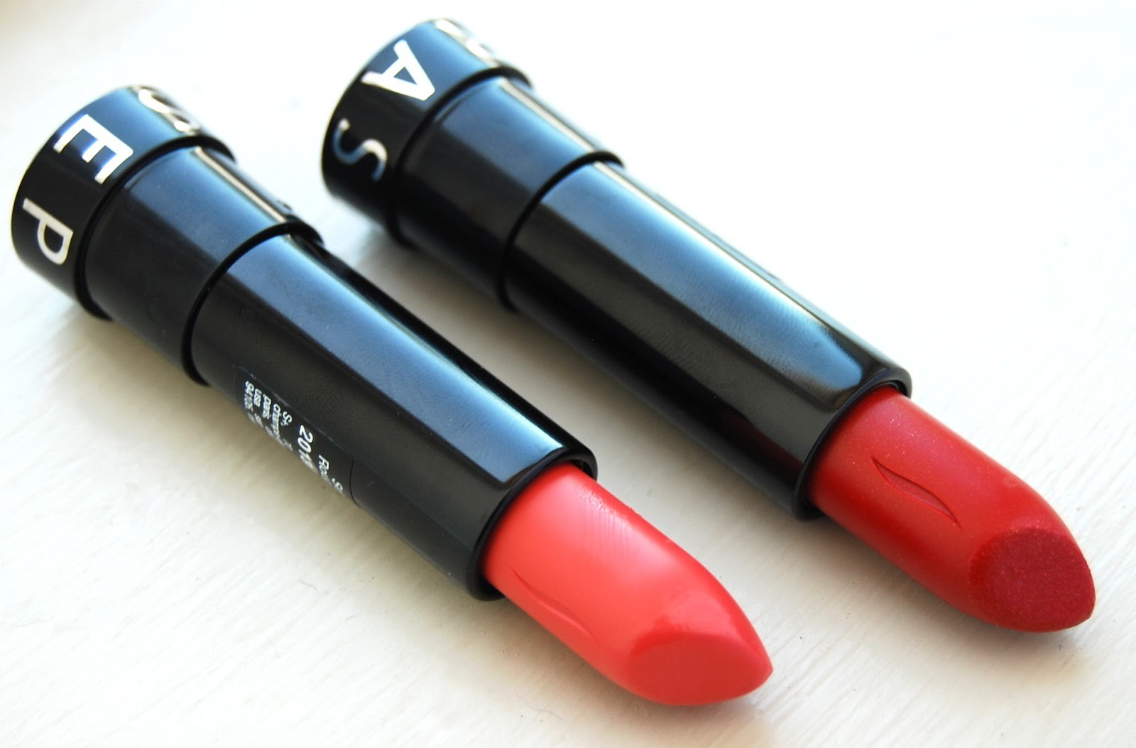Sephora Collection Rouge Shine Lipstick in No 28 Just Married and No 33 Get Rich