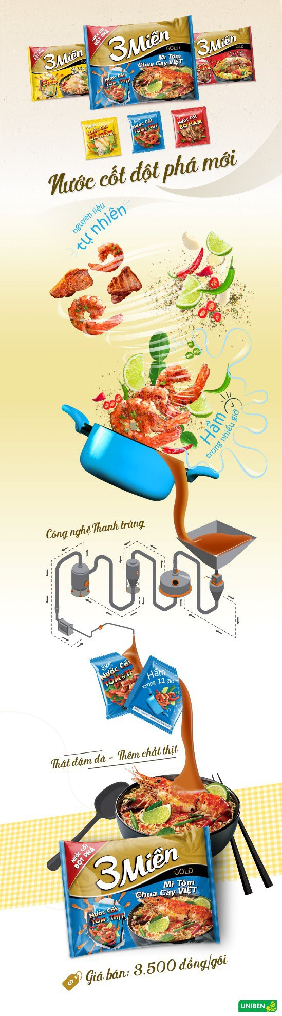 Mì 3 miền tôm chua cay Việt: Thật đậm đà – Thêm chất thịt - Ảnh 1.