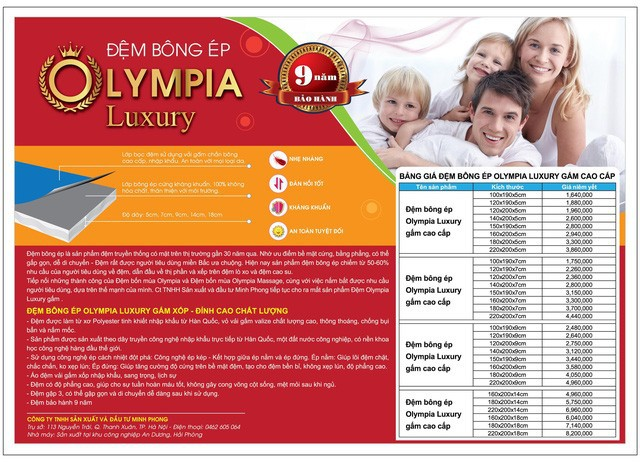 Chăn ga gối đệm Olympia ra mắt đệm bông ép cao cấp mới - Ảnh 4.