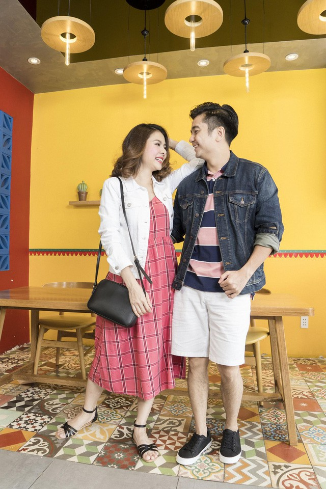 Học cách phối đồ mùa thu ton-sur-ton cùng gia đình diễn viên Vân Trang - Ảnh 8.