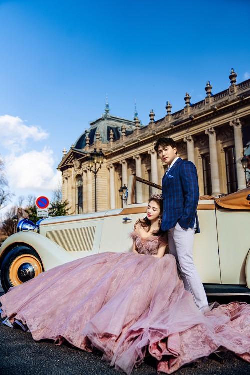 Nàng Rich kid Giang Lê tung bộ ảnh cưới xuất sắc tại Paris, chú rể hóa ra từng là người tình tin đồn của Angela Phương Trinh - Ảnh 3.