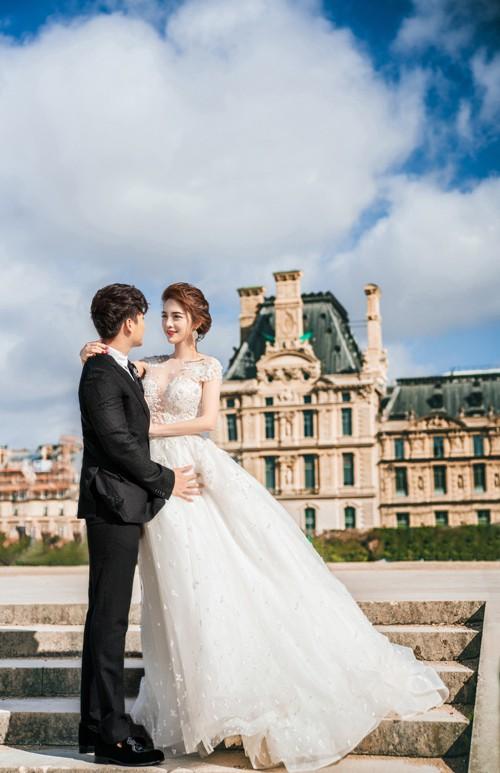Nàng Rich kid Giang Lê tung bộ ảnh cưới xuất sắc tại Paris, chú rể hóa ra từng là người tình tin đồn của Angela Phương Trinh - Ảnh 4.