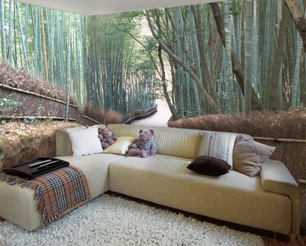 Trang trí phòng khách với những bức tranh tường đẹp mê hồn