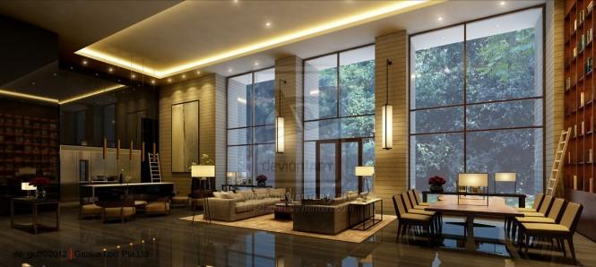 Thiết kế đẹp cho nhà trần cao