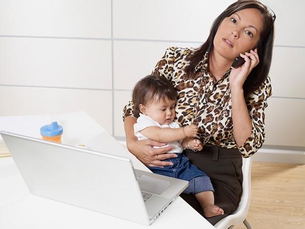 Những bà mẹ bận rộn dễ bị stress