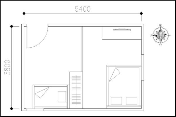 Cải tạo phòng ngủ 20 mét vuông tiện dụng