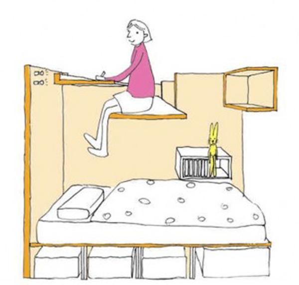 120806afamilyNDgiai phap doc dao cho khong gian nho%20%282%29 adacc Học hỏi giải pháp tối ưu hóa không gian cho phòng trẻ