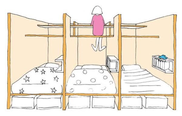 120806afamilyNDgiai phap doc dao cho khong gian nho%20%286%29 adacc Học hỏi giải pháp tối ưu hóa không gian cho phòng trẻ