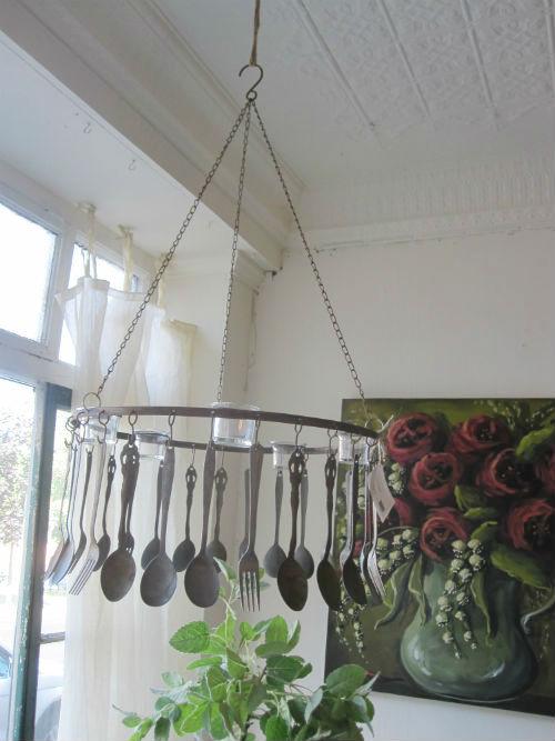 Ý tưởng décor sáng tạo với thìa và dĩa
