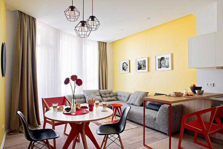 goi y trang tri phong an voi gam mau vangxam 2515433943 Gợi ý cho bạn những mẹo trang trí phòng ăn với gam màu vàng   xám đẹp lạ, ấn tượng