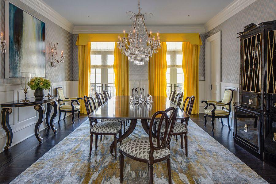 goi y trang tri phong an voi gam mau vangxam 3048b8b72a Gợi ý cho bạn những mẹo trang trí phòng ăn với gam màu vàng   xám đẹp lạ, ấn tượng