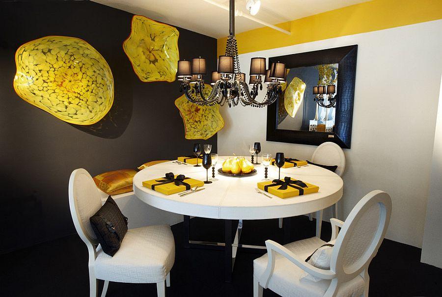 goi y trang tri phong an voi gam mau vangxam 32b4b2c8b2 Gợi ý cho bạn những mẹo trang trí phòng ăn với gam màu vàng   xám đẹp lạ, ấn tượng