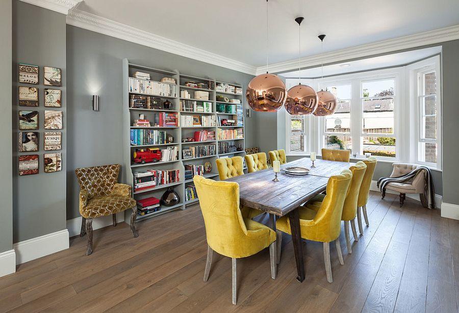 goi y trang tri phong an voi gam mau vangxam 3f69bf1d0a Gợi ý cho bạn những mẹo trang trí phòng ăn với gam màu vàng   xám đẹp lạ, ấn tượng