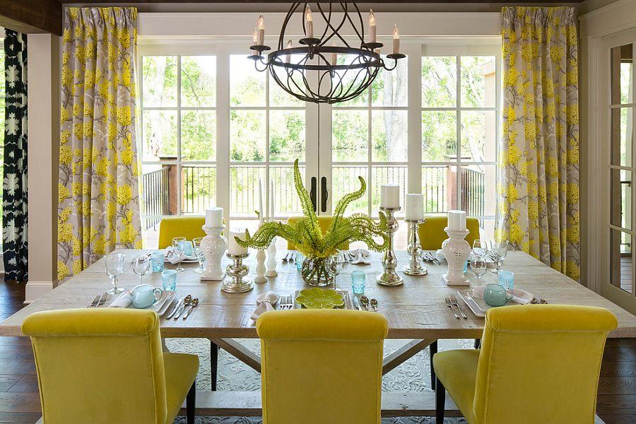 goi y trang tri phong an voi gam mau vangxam 59d59c3c8f Gợi ý cho bạn những mẹo trang trí phòng ăn với gam màu vàng   xám đẹp lạ, ấn tượng