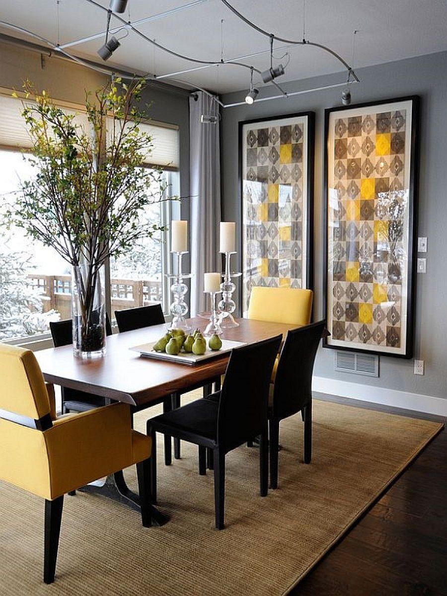 goi y trang tri phong an voi gam mau vangxam 6776cc7fa1 Gợi ý cho bạn những mẹo trang trí phòng ăn với gam màu vàng   xám đẹp lạ, ấn tượng