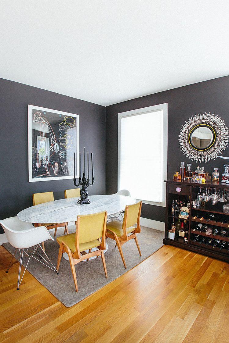 goi y trang tri phong an voi gam mau vangxam 67d84e2217 Gợi ý cho bạn những mẹo trang trí phòng ăn với gam màu vàng   xám đẹp lạ, ấn tượng