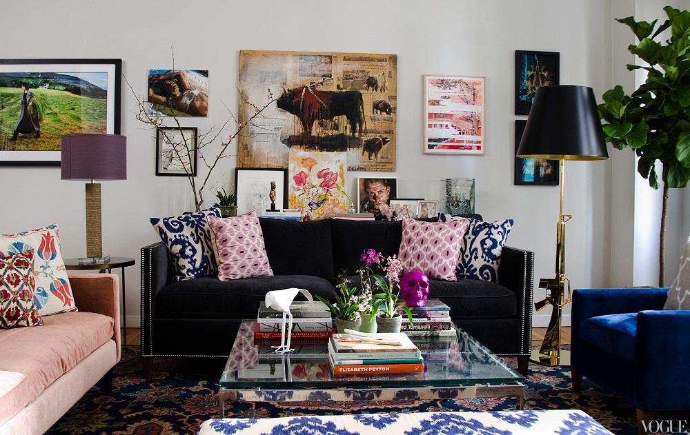 Image result for tự trang trí phòng khách