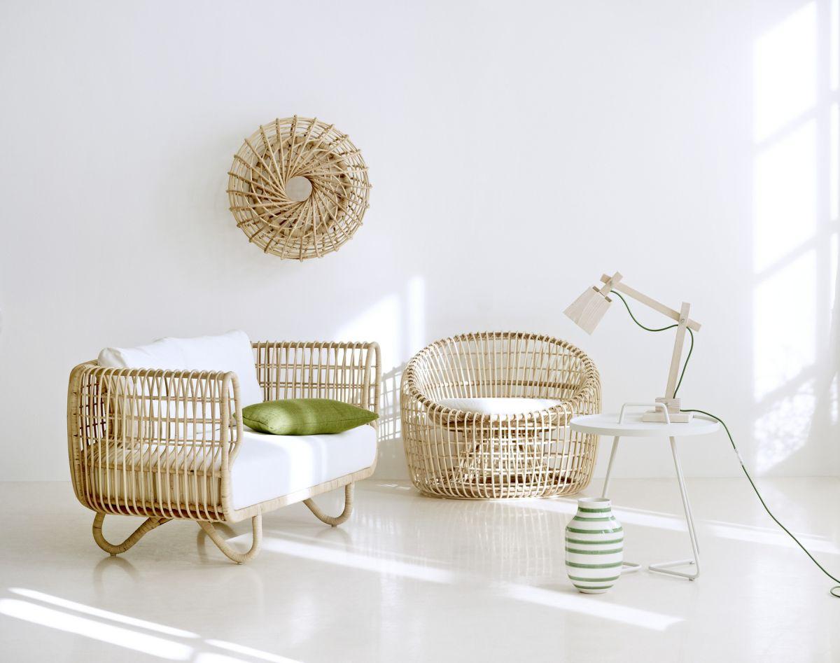 Một điều đáng yêu thêm nữa chính là những món đồ nội thất làm từ mây vô cùng nhẹ. Một chiếc ghế bành như thế này trông có thể rất tuyệt vời ...