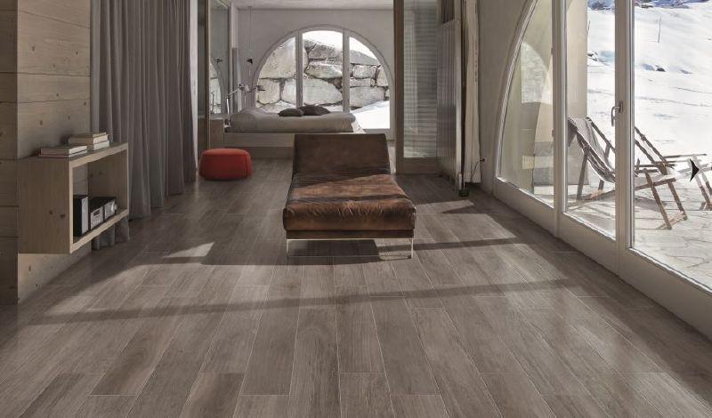 Gạch lát giả gỗ giúp sàn nhà ấm áp và sang trọng