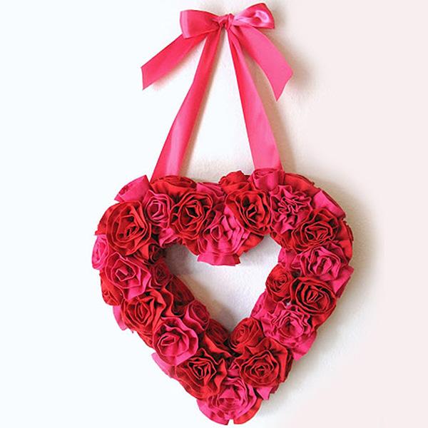 Lãng mạn khung ảnh trái tim hoa hồng