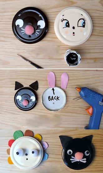 Mèo và thỏ dễ thương giữ cuộn chỉ tiện lợi