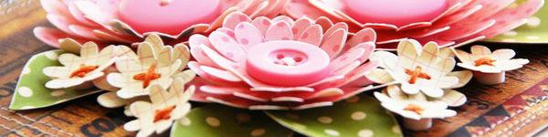 Tự làm thiệp nổi hoa giấy giản dị và xinh xắn!