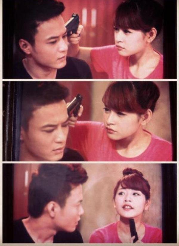 """Minh Khang """"Cầu vồng tình yêu"""" bị hot girl... dí súng"""