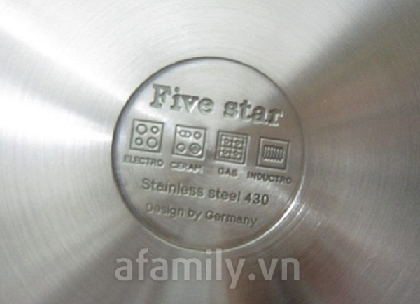 Bộ nồi Five Star 5 chiếc 9