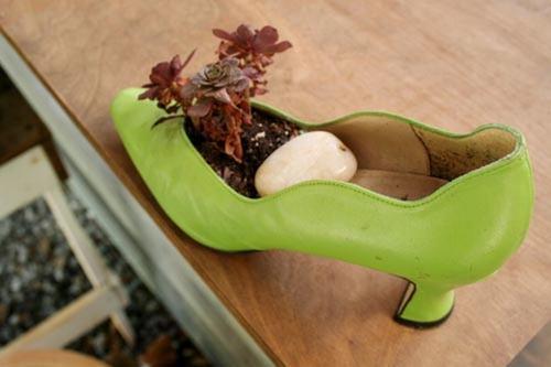 shoescontainergarden35 a0322 Có tới 1001 cách tận dụng giày cũ để trồng hoa trong vườn