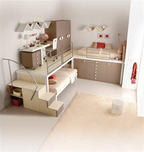 ytuongthietkephongchocapsongsinh7 43720 Phương pháp thiết kế phòng thông minh cho cặp song sinh