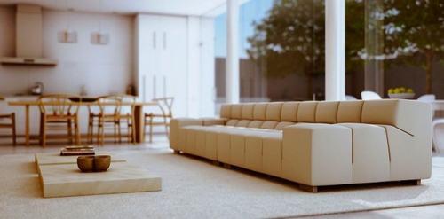 111 2b400 Những mẫu phòng khách kết hợp với phòng ăn đẹp mắt