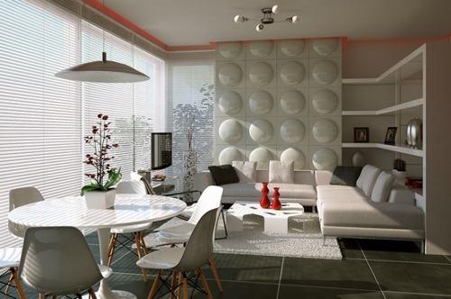 1 93251 Những mẫu phòng khách kết hợp với phòng ăn đẹp mắt