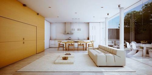 22 d527c Những mẫu phòng khách kết hợp với phòng ăn đẹp mắt