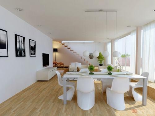 3 eff5f Những mẫu phòng khách kết hợp với phòng ăn đẹp mắt