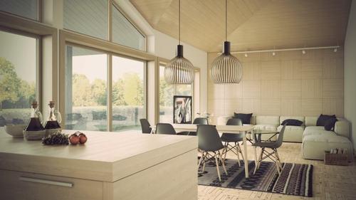 5 f7696 Những mẫu phòng khách kết hợp với phòng ăn đẹp mắt