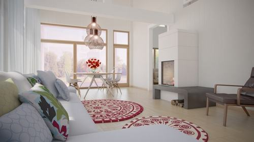 6 8c16f Những mẫu phòng khách kết hợp với phòng ăn đẹp mắt