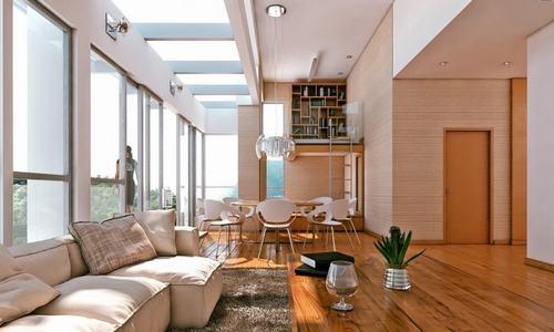 7 b0755 Những mẫu phòng khách kết hợp với phòng ăn đẹp mắt