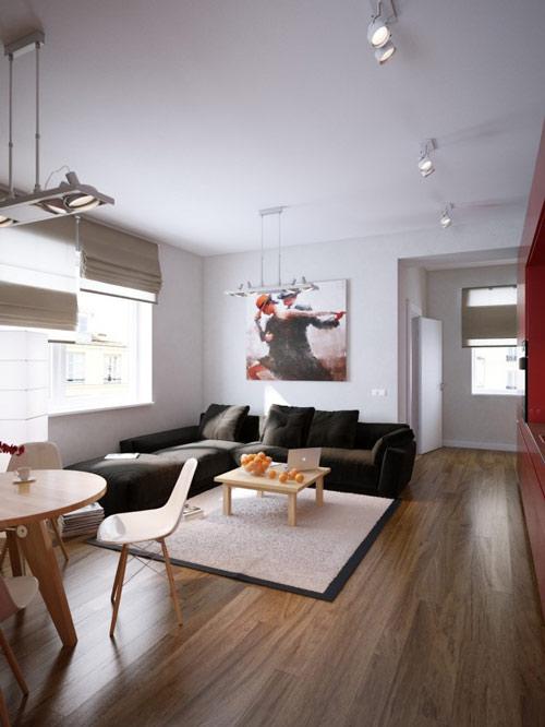 khonggiandep1 f8563 Gới ý cho bạn những kiểu trang trí căn hộ xinh xắn cho vợ chồng trẻ