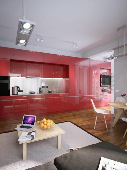khonggiandep2 2774b Gới ý cho bạn những kiểu trang trí căn hộ xinh xắn cho vợ chồng trẻ