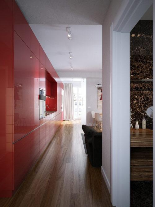 khonggiandep3 f7916 Gới ý cho bạn những kiểu trang trí căn hộ xinh xắn cho vợ chồng trẻ