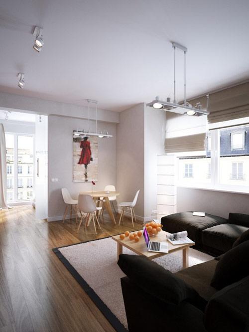 khonggiandep d7e82 Gới ý cho bạn những kiểu trang trí căn hộ xinh xắn cho vợ chồng trẻ
