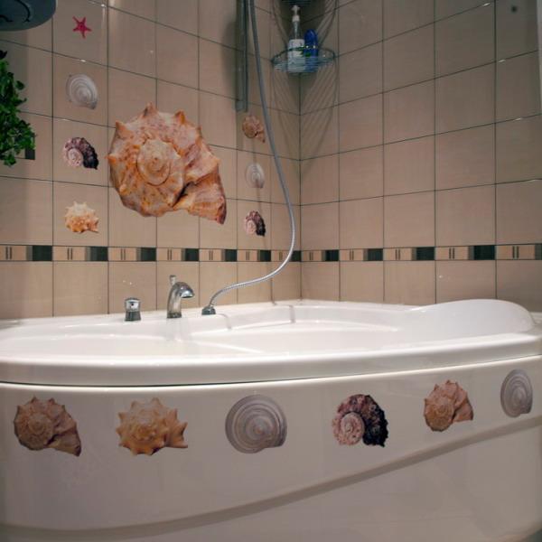 decorettostickersinbathroom1 dc77a Ngôi nhà của bạn sẽ trở nên bắt mắt hơn với sticker dán tường