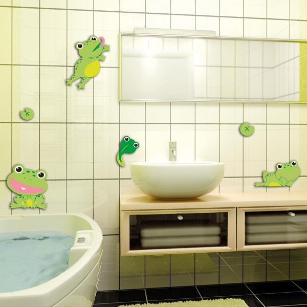decorettostickersinbathroom5 3f400 Ngôi nhà của bạn sẽ trở nên bắt mắt hơn với sticker dán tường